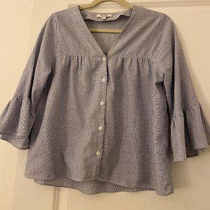 Madewell Swingy Peasant Top Bell Sleeves